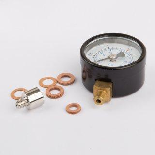 Manometer Anschluss unten M6 Ø 35 mm inkl. Adapterstück - Wilesco Ersatzteile