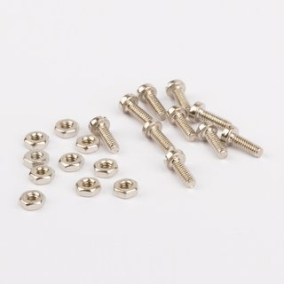 Schrauben und Muttern M2 - 10 Paar vernickelt  - Wilesco Ersatzteile