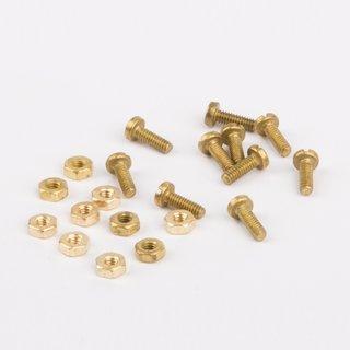 Schrauben und Muttern M2 messing - Wilesco Ersatzteile