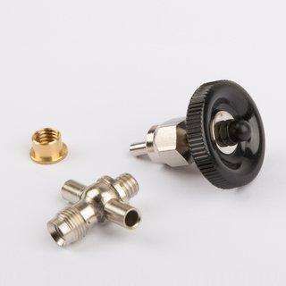Dampfabsperrventil Ablassventil mit Ventilkörperunterteil inkl. Bundmutter mit Lötring - Wilesco Ersatzteile