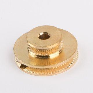 Schnurlaufrolle - Doppelschnurlaufrolle 25 mm messing blank - Wilesco Ersatzteile