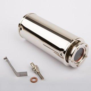 Kessel mit Federsicherheitsventil inkl. Glas und Befestigungsklammer - Wilesco Ersatzteile