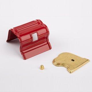 Zylinderverkleidung rot messing - Wilesco Ersatzteile